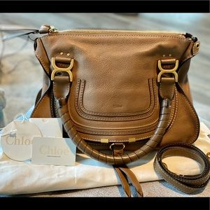 Chloe Marcie Nut 2way Satchel Crossbody
